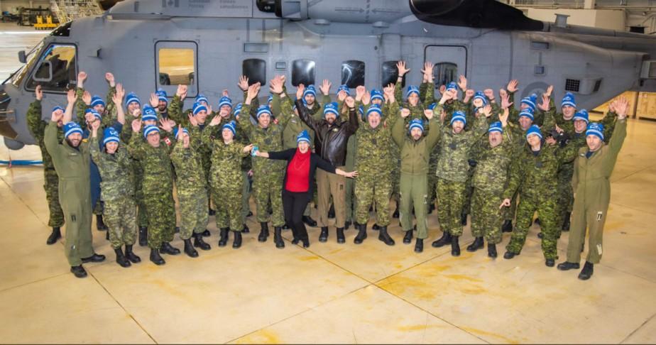 Le personneldu 423e escadron d'hélicoptères maritimes basé à... (Photo fournie par Aviation royale du Canada)