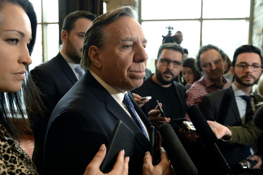 Le premier ministre François Legault... (Photo Justin Tang, La Presse canadienne)