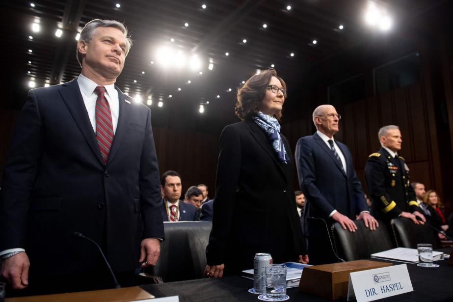 Mardi, Gina Haspel, directrice de la CIA, et... (Photo SAUL LOEB, AFP)