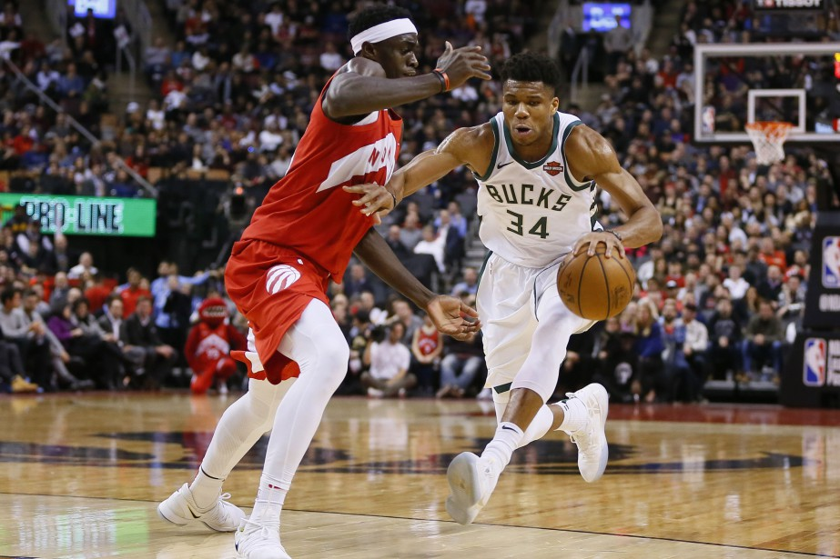 Giannis Antetokounmpo (34) a marqué 19 points dans... (Photo John E. Sokolowski, USA TODAY Sports)