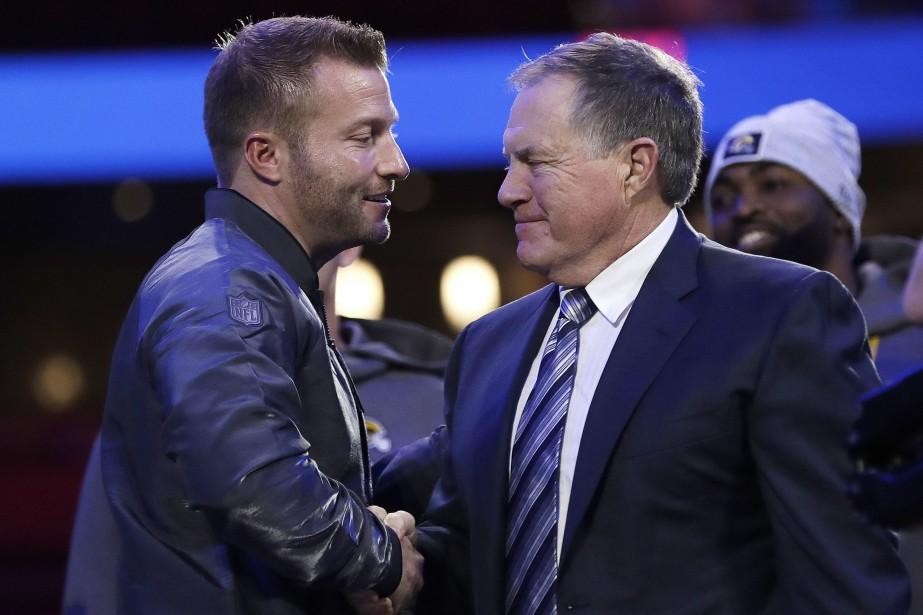 Les entraîneurs-chefs Sean McVay, des Rams de Los... (Photo David J. Phillip, Associated Press)