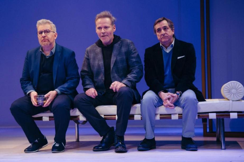 Benoît Brière, Luc Guérin et Martin Drainville jouent... (Photo François Laplante Delagrave, fournie par le Rideau Vert)