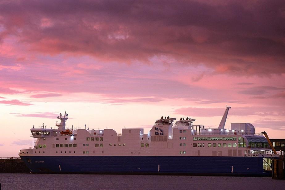 Le navire F.-A.-Gauthier au quai de Matane, en... (Photo Bernard Brault, archives La Presse)