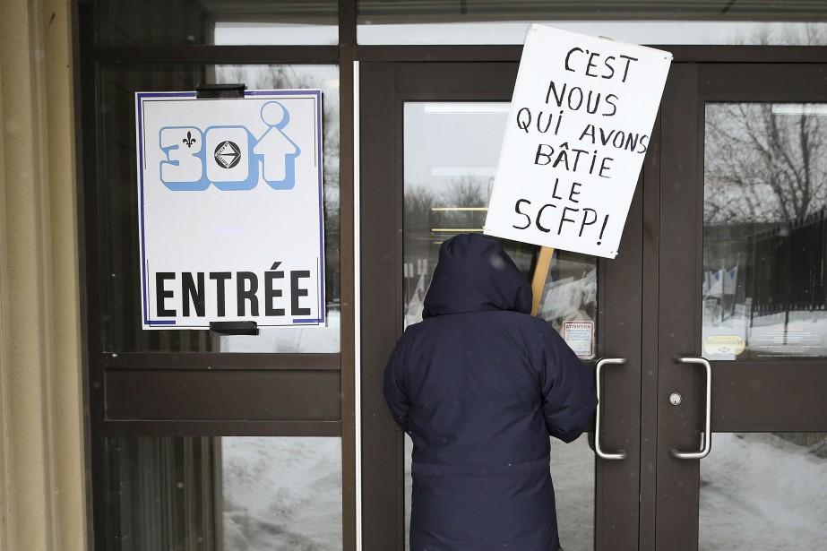 Les retraités du syndicat n'avaient pas accès a... (Photo Robert Skinner, La Presse)