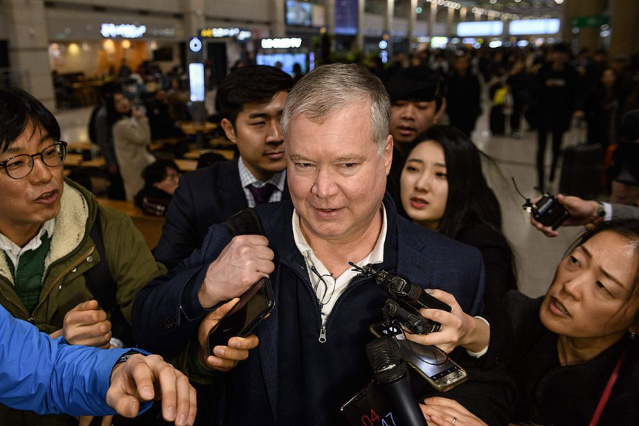 Le représentant spécial des États-Unis pour la Corée... (Photo ED JONES, Agence France-Presse)