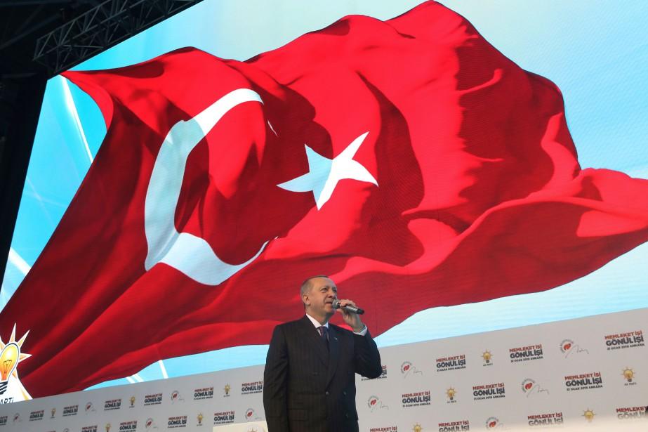 «Je n'arrive pas à comprendre le silence des... (Photo fournie par la présidence turque via Associated Press)