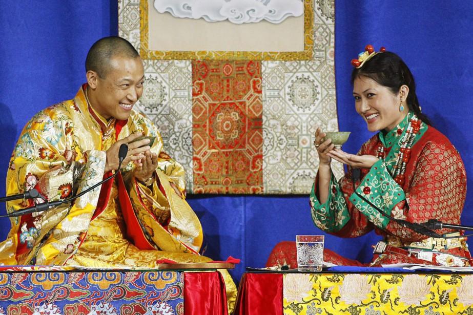 Sakyong Mipham Rinpoché lors de son mariage avec... (ARCHIVES PC)