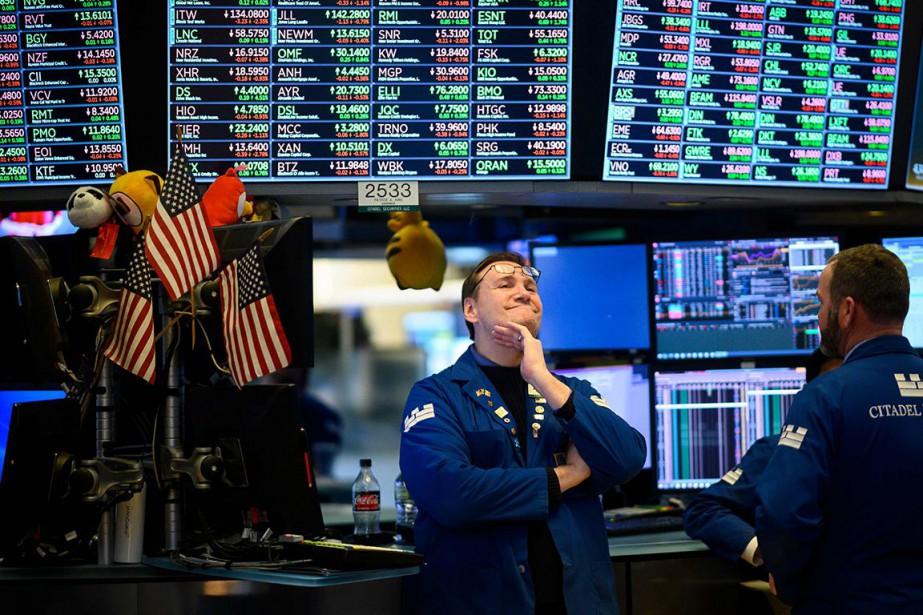 L'indice vedette de la Bourse de New York,... (Photo JOHANNES EISELE, Agence France-Presse)