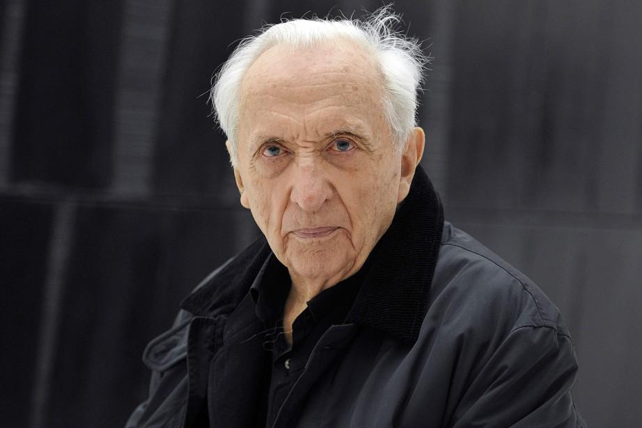 Pierre Soulages en mai 2014... (Photo PASCAL PAVANI, archives AFP)