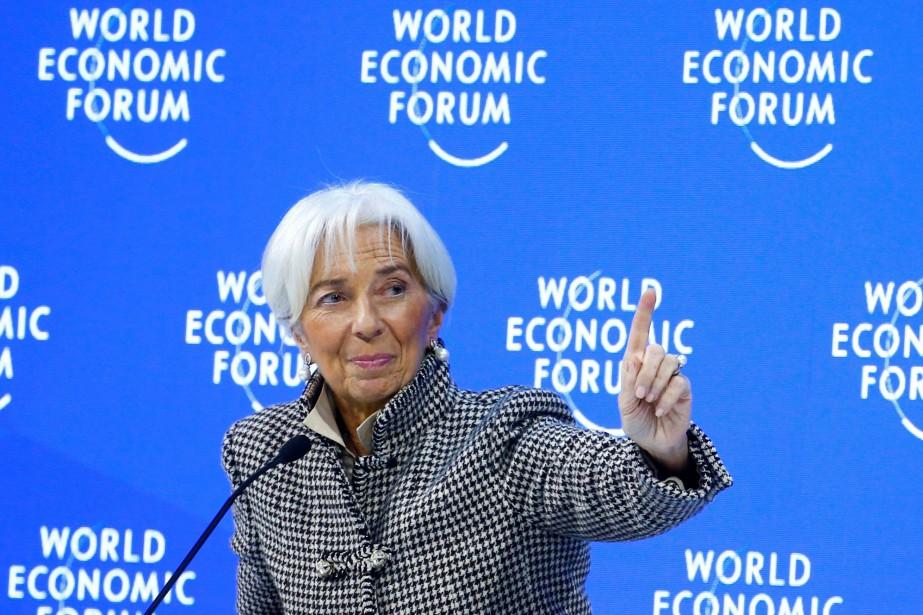 La directrice générale du Fonds monétaire international, Christine... (Photo ARND WIEGMANN, REUTERS)