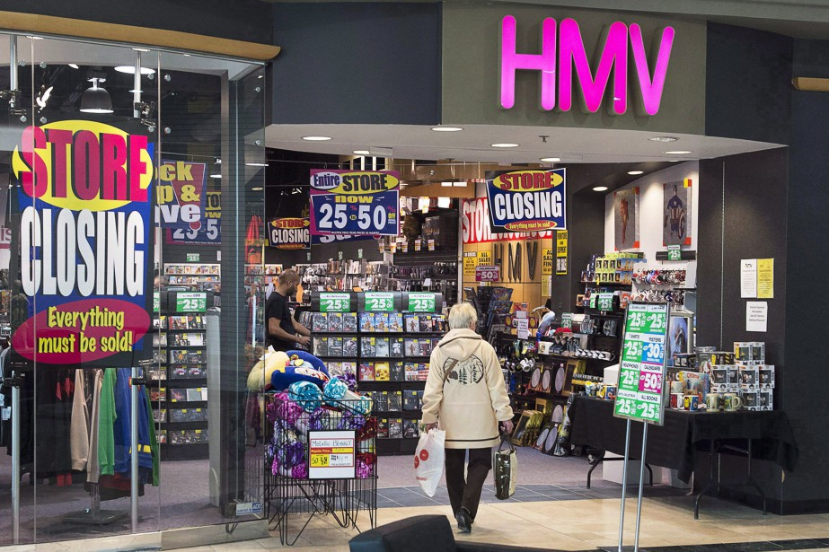 HMV avait été contraint de faire faillite fin... (Photo Andrew Vaughan, THE CANADIAN PRESS)