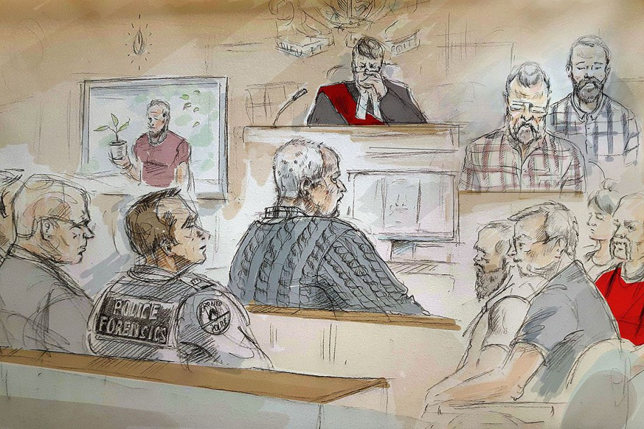Bruce McArthur figure au centre de ce dessin... (Photo Alexandra Newbould, ARCHIVES PC)