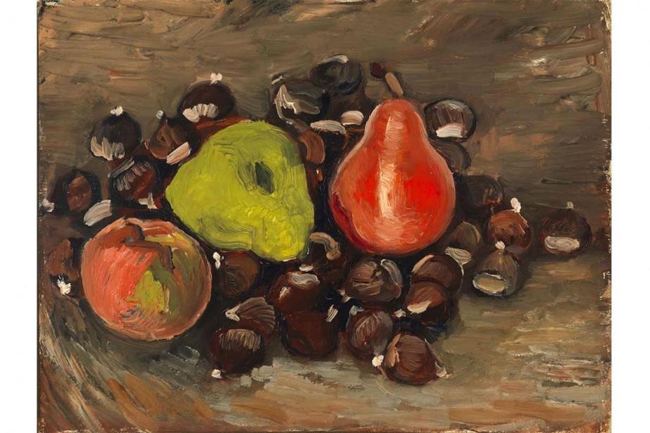 Nature morte avec des fruits et des châtaignes... (Capture d'écran)
