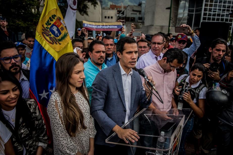 Juan Guaido, qui s'est autoproclamé président par intérim... (PHOTO THE NEW YORK TIMES)
