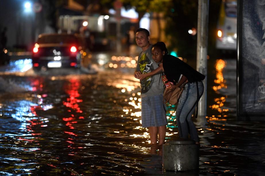 Rio de Janeiro a enregistré son mois de... (Photo MAURO PIMENTEL, Agence France-Presse)