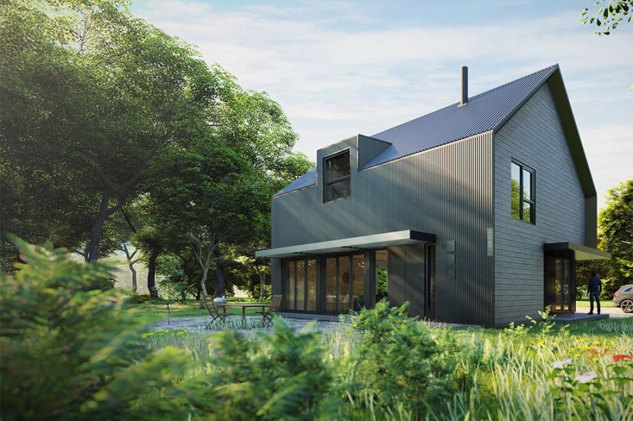 La maison écologique Eco-Habitat S1600, conçue par Para-Sol... (ILLUSTRATION FOURNIE PAR ÉCOHABITATION)