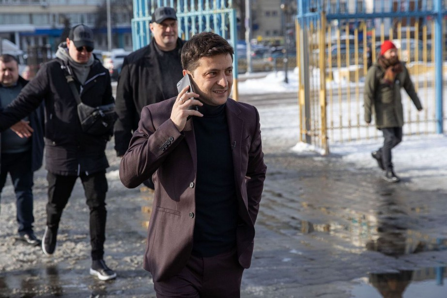 VolodymyrZelensky, 41ans, connu pour ses rôles dans des... (Photo Agence France-Presse)