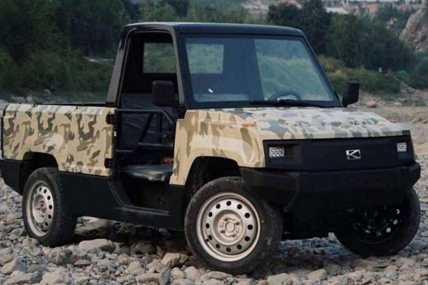 Cette camionnette électrique vendue 3300$ CAN en Chine... (Photo fournie par Kaiyun Motors)