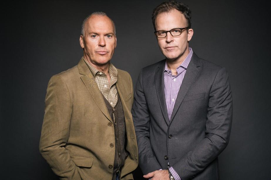 L'acteur Michael Keaton et le réalisateur Thomas McCarthy... (Photo Casey Curry, Casey Curry/Invision/AP)