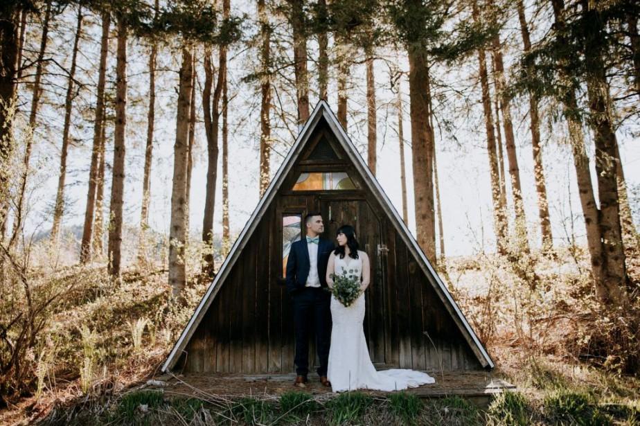 Un mariage tout à fait rustique... (Photo fournie par Naomie Gagnon)