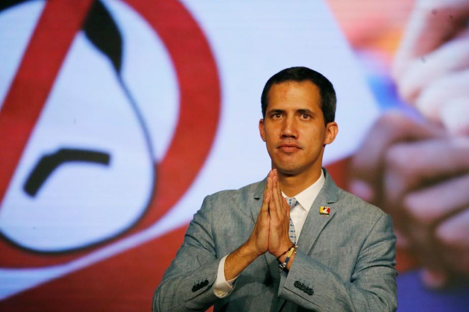 Juan Guaido, président par intérim du Venezuela.... (Photo Ariana Cubillos, archives AP)