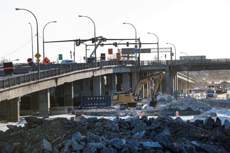 Les travaux de construction de l'échangeur Angrignon entraîneront... (Photo Robert Skinner, La presse)