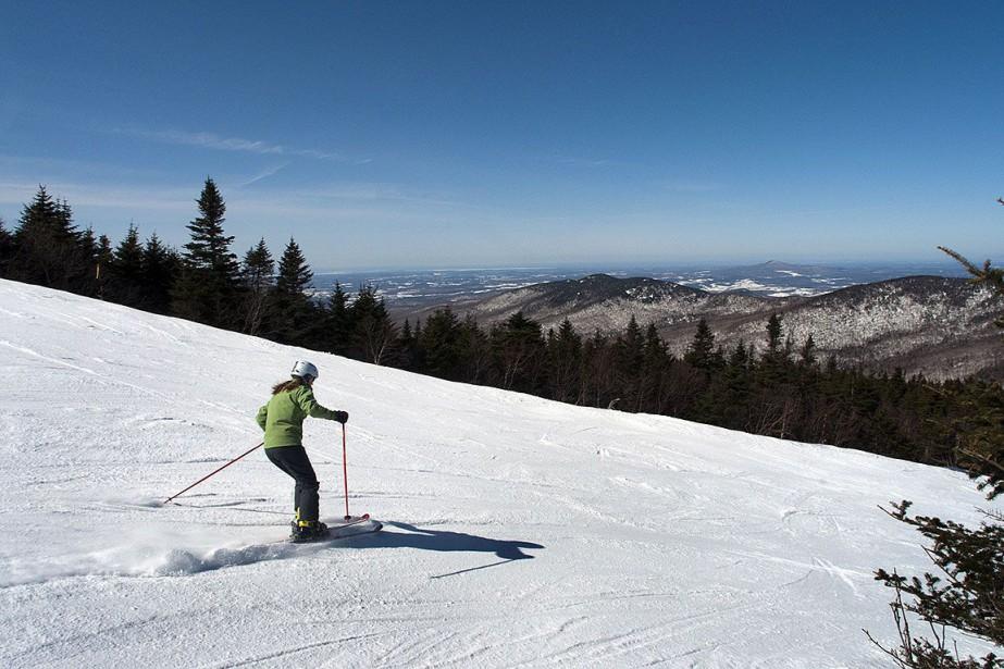 Un skieur sur les pentes de Jay Peak,... (Photo CALEB KENNA, archives New York Times)