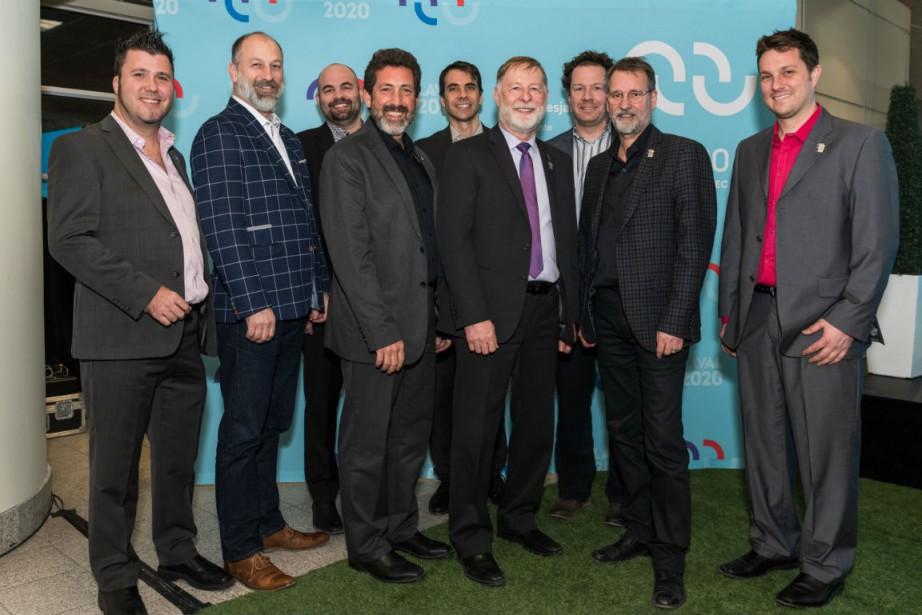 Sébastien Sirois, Alain Deschamps, Benoit Mercier,Michel Allen, Nicholas... (Photo fournie par COFJQ)