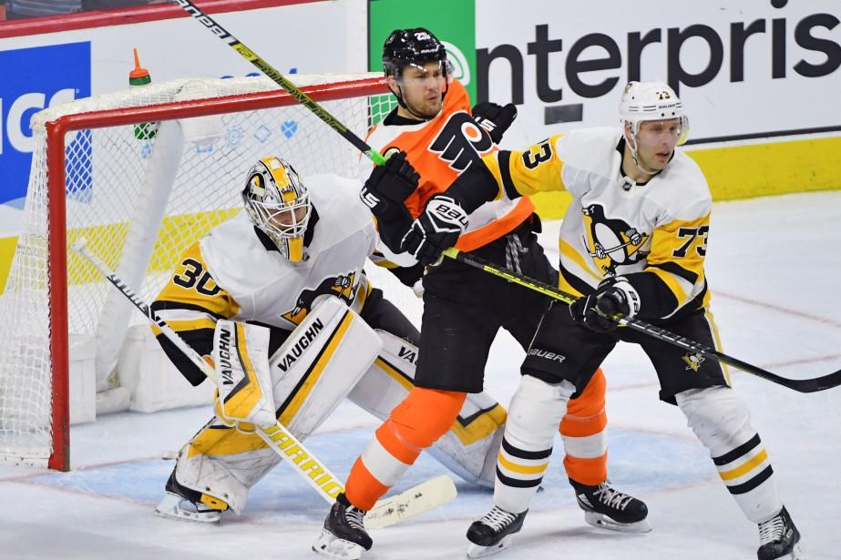 Matt Murray a effectué 50 arrêts, Sidney Crosby a marqué un... (PHOTO REUTERS)