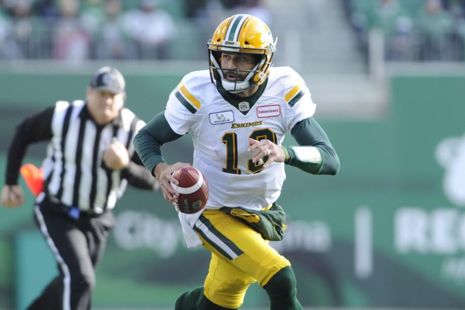 Le quart Mike Reilly était le joueur le... (Photo Mark Taylor, archives La Presse canadienne)