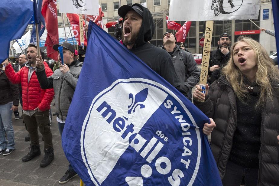 Les 1030 travailleurs, membres du Syndicat des Métallos,... (Photo Patrick Sanfaçon, archives La Presse)