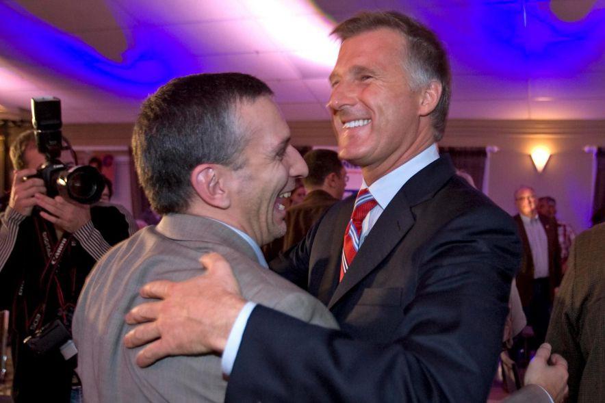 Martin Masse et Maxime Bernier lors des élections... (PHOTO ALAIN ROBERGE, ARCHIVES LA PRESSE)