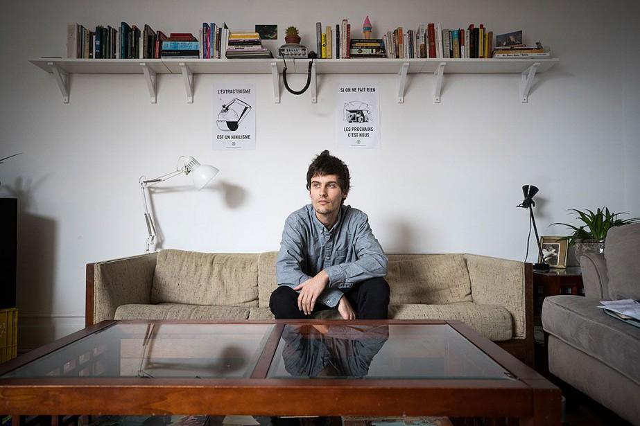 Louis Ramirez, militant d'Extinction Rebellion, s'est fait arrêter... (Photo Olivier PontBriand, La Presse)