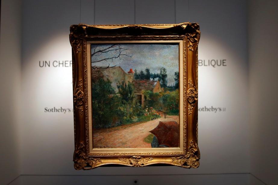 Le jardin de Pissarro de Paul Gauguin... (Photo Christophe Ena, AP)