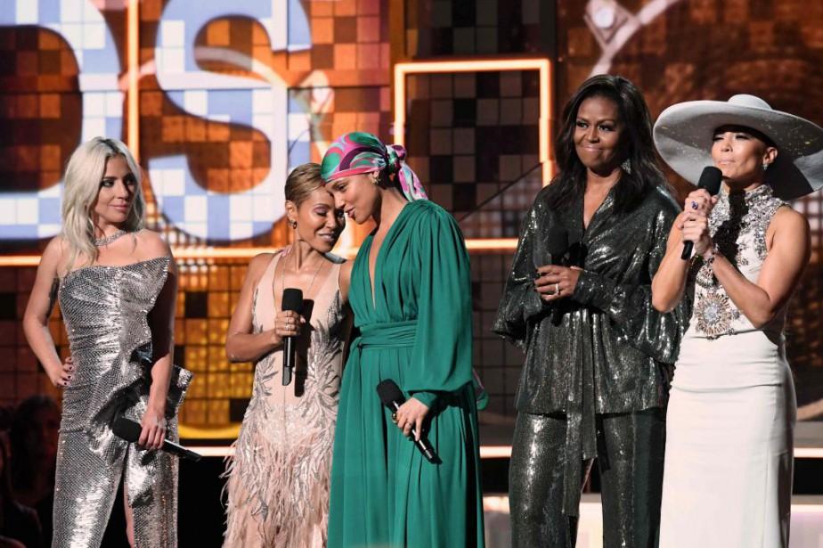 Michelle Obama est montée sur la scène des... (Photo Robyn Beck, Agence France-Presse)