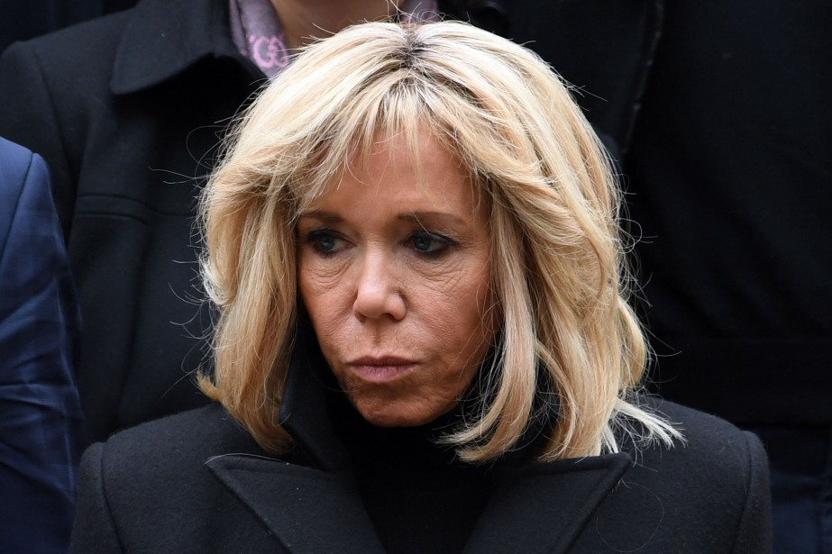 Brigitte Macron... (Photo ALAIN JOCARD, Agence France-Presse)