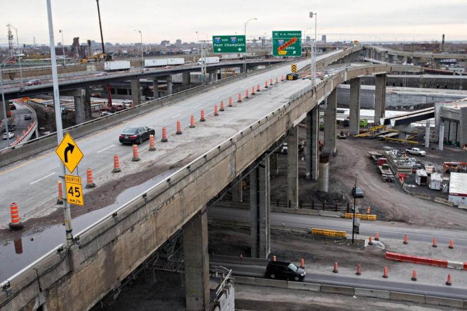 En direction sud, l'A15 sera fermée dans l'échangeur... (Photo Patrick Sanfaçon, archives La Presse)