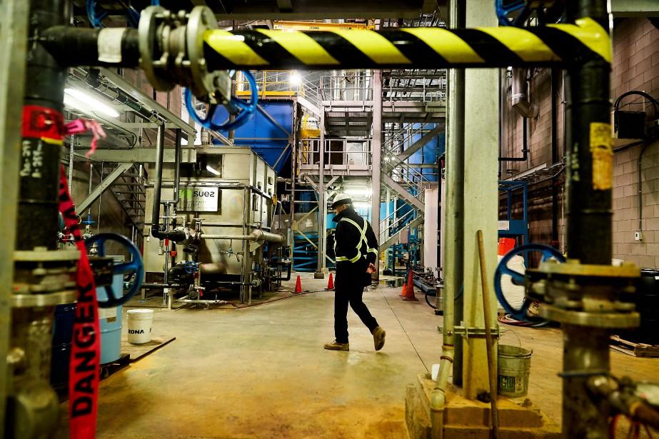 L'usine de biométhanisation de Varennes... (Photo André Pichette, La Presse)