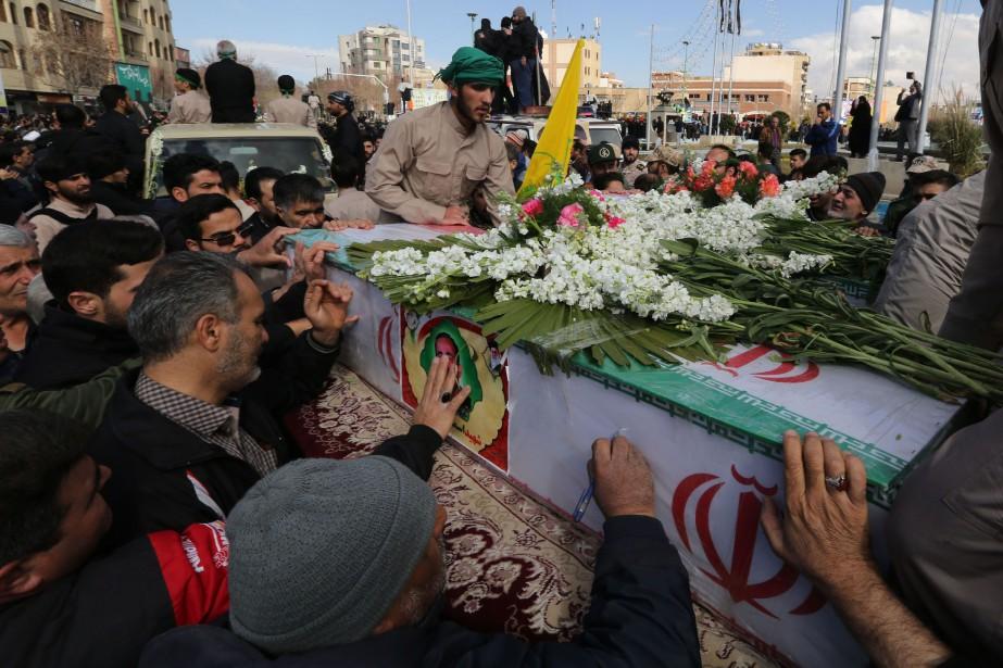 Selon l'agence iranienne Tasnim, ces victimes, âgées de... (Photo ATTA KENARE, Agence France-Presse)