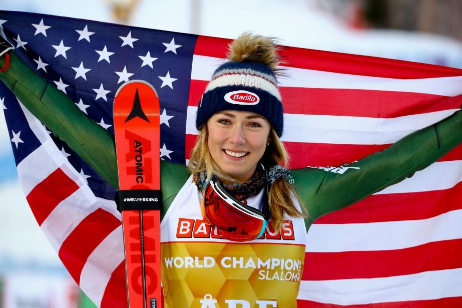 Mikaela Shiffrin est donc devenue la première athlète... (Photo Marco Trovati, Associated Press)
