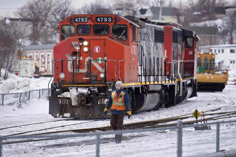 La compagnie ferroviaire a fait état «d'une fuite... (Photo Andrew Vaughan, archives LA PRESSE CANADIENNE)