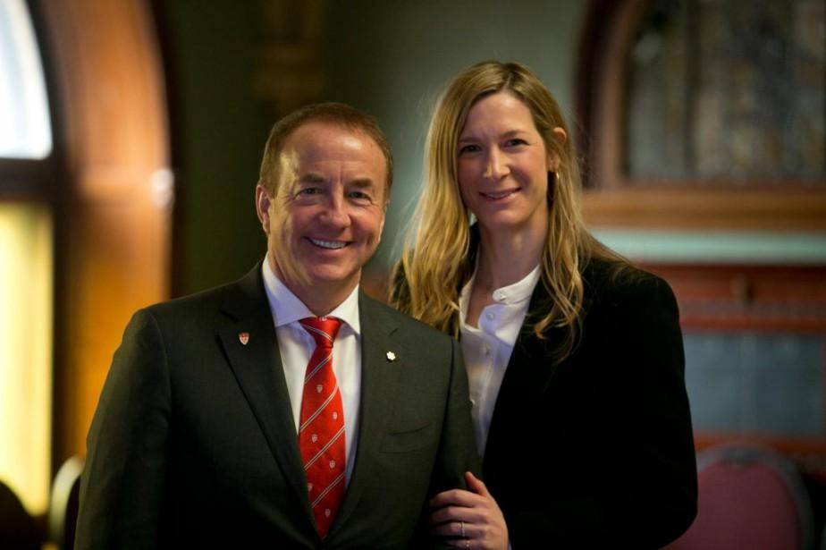 John et Marcy McCall MacBain, quiviennent de faire... (Photo FrançoisRoy, La Presse)