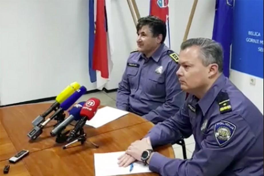 La police a indiqué avoir découvert un cadavre... (IMAGE TIRÉE D'UNE VIDÉO VIA emedjimurje.rtl.hrINTER)