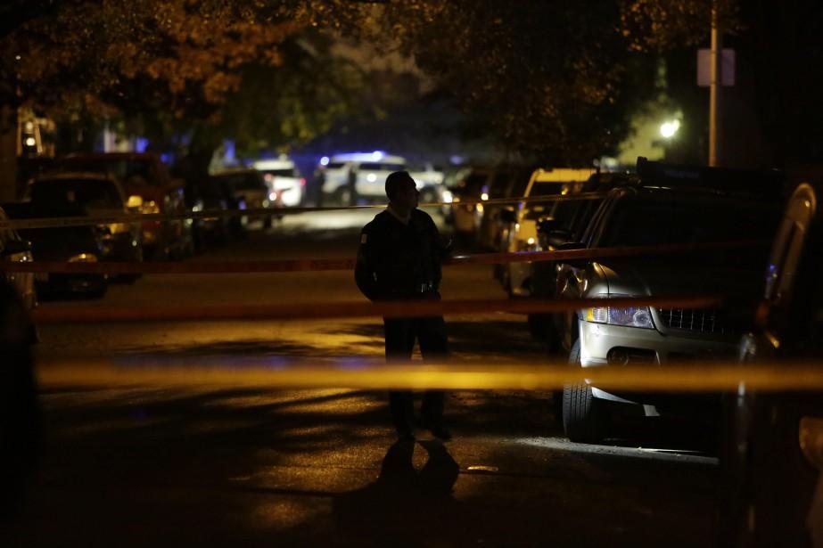Selon les médias américains, la victime s'appelait MichaelElam... (Photo JOSHUALOTT, archives AFP)