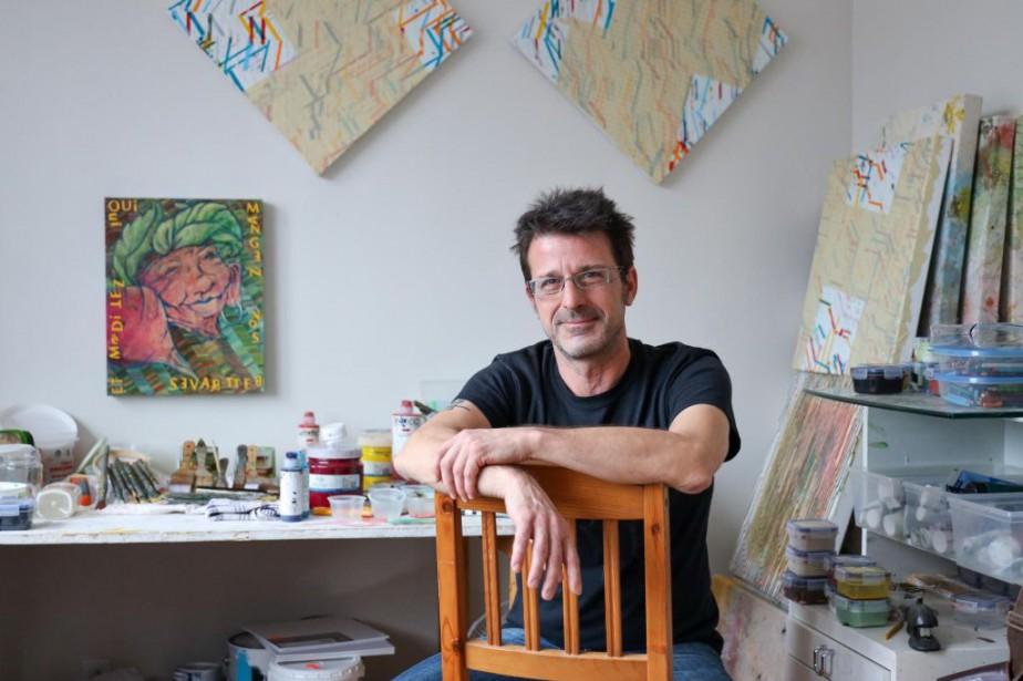 L'artiste Paul Bourgault... (Photo Martin Tremblay, La Presse)