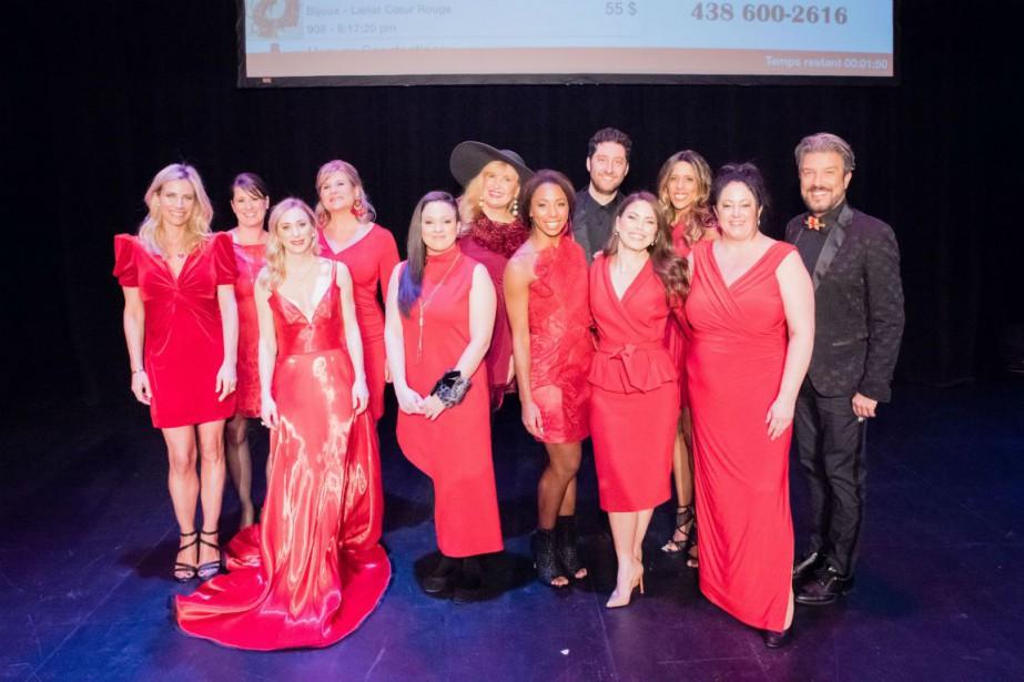 Les animateurs et les ambassadrices de la soirée... (Photo fournie par Coeur + AVC)