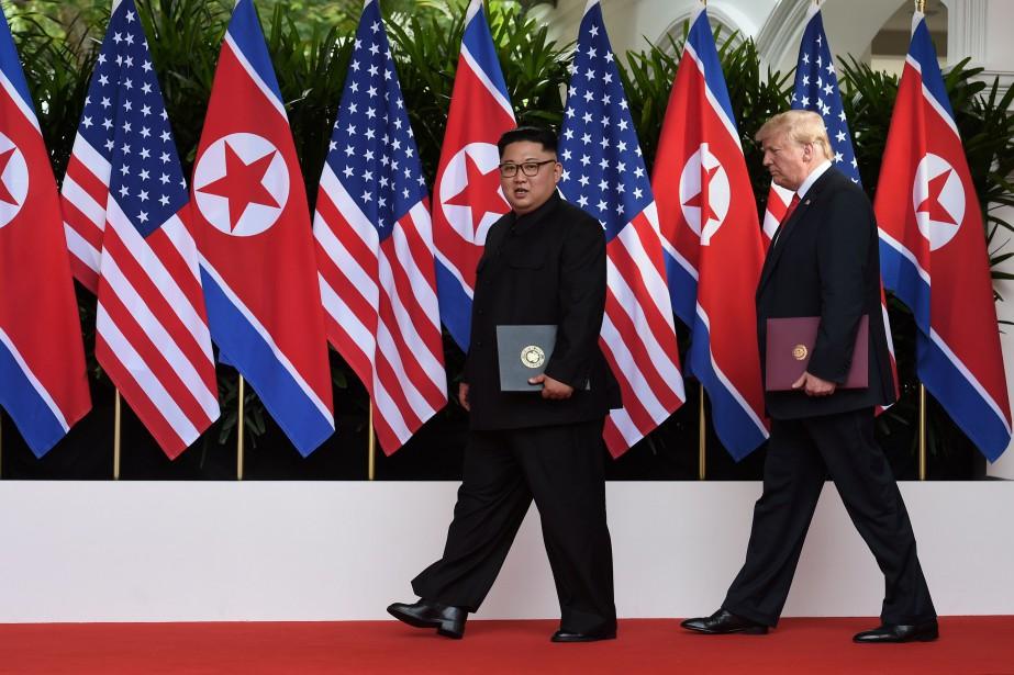Kim Jong-un et Donald Trump, en juin2018.... (Photo archives REUTERS)