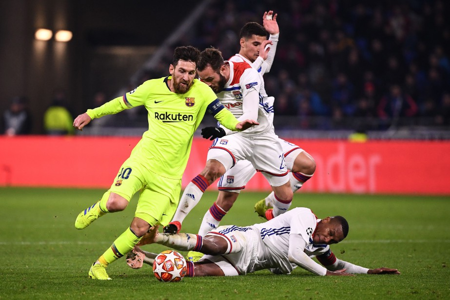 Lionel Messi a tout tenté mais n'a rien... (PHOTO AFP)