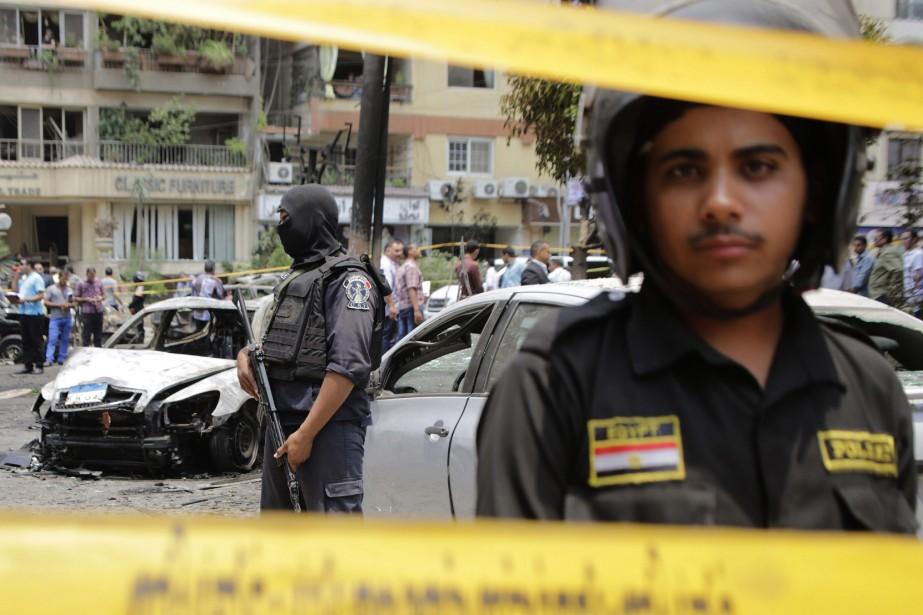 L'attaque contre le Procureur général en 2015, qui... (Photo Amr Nabil, THE ASSOCIATED PRESS)