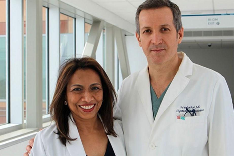 La Dre Lucy Gilbert et le Dr Kris... (Photo MUHC.CA)